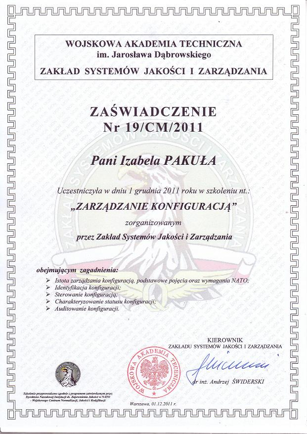 Certyfikacja AQAP Pakuła Consulting